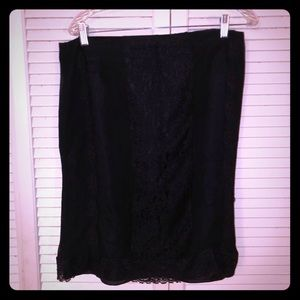 🏖NEW🏖EUC VTG 90s Goth lace detailed pencil skirt